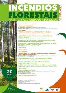 Cartaz Seminário Incêndios Florestais na interface urbano-florestal