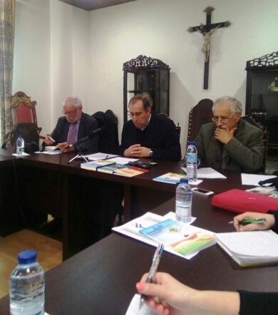 O Bispo de Viseu, durante o encontro anual com a comunicação social