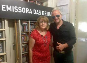 aria Helena com o cantor Nuno Portugal